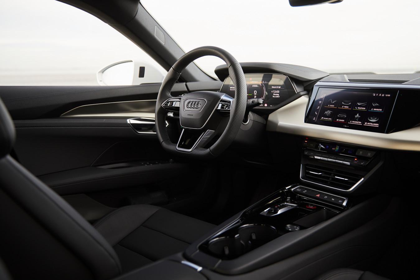Minder excentriek, wel goed ontworpen: de cockpit van de Audi e-Tron GT