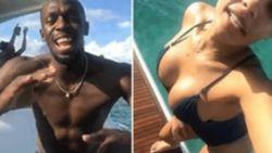'Bolt and the beautiful': sprintlegende geniet samen met ravissante vriendin met volle teugen van pensioen