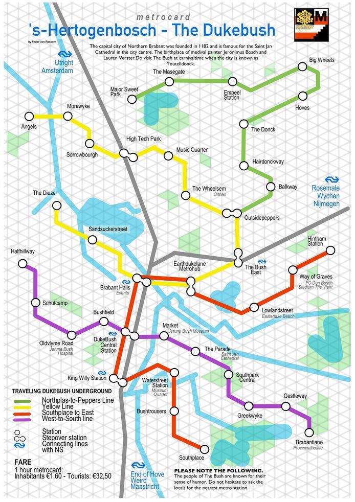 De metrokaart van Den Bosch, of 'The Bush'