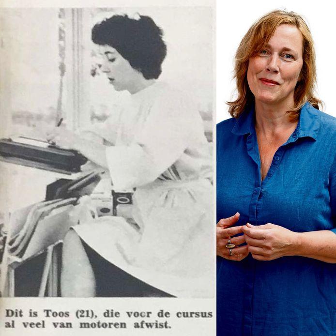 Mijn moeder in de pers. Zij en haar zussen waren de eerste vrouwelijke pompbedienden in het land, in de jaren vijftig. Ze waren een attractie.