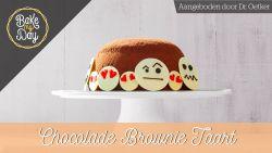 Zo maak je deze overheerlijke chocolade brownietaart