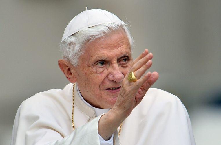De vroegere paus Benedictus: 'Waarom was er zoveel pedofilie? De reden is de afwezigheid van God.'  Beeld afp