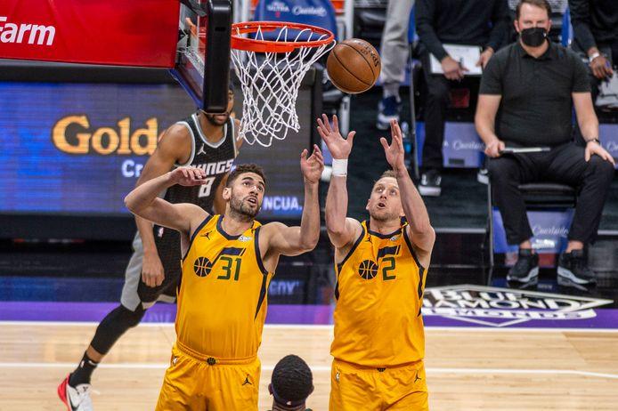 Georges Niang en Joe Ingles van Utah Jazz.