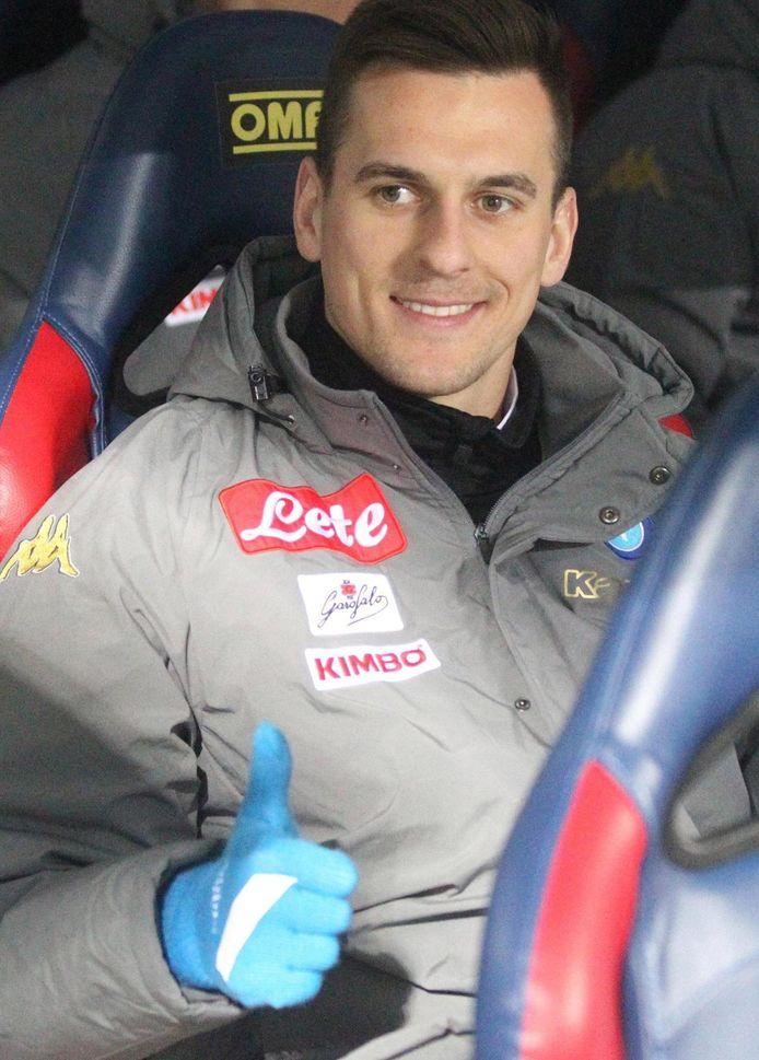Arek Milik: zaterdag terug op de bank van Napoli.