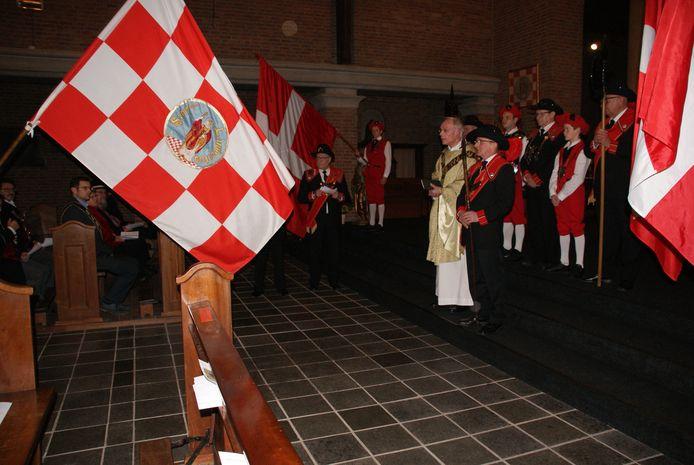 Het gilde in de kerk in Maren-Kessel.