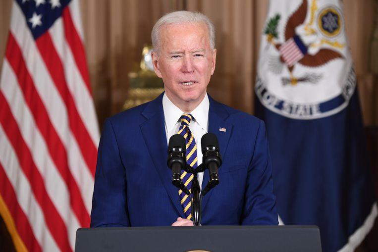 President Biden laat weten dat de VS weer terug zal komen op het wereldtoneel. Beeld Hollandse Hoogte / AFP