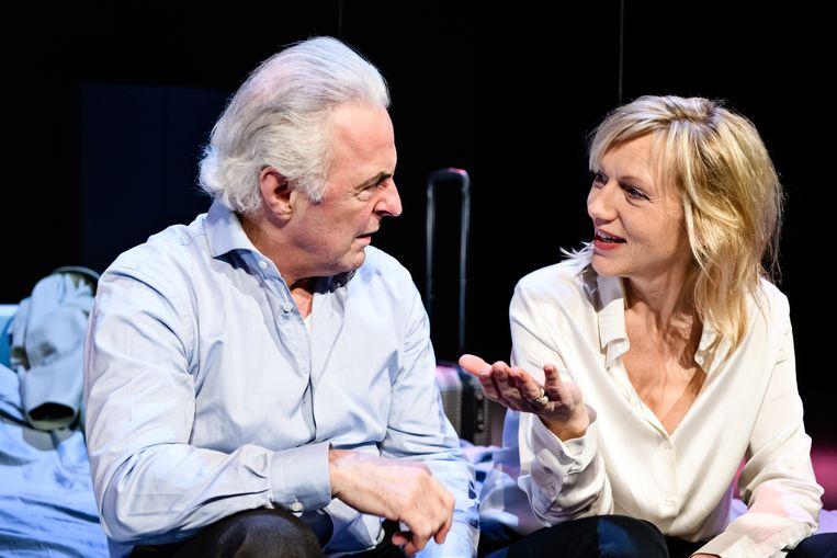 Huub Stapel en Johanna ter Steege in De Waarheid Beeld Foto Annemieke van der Togt