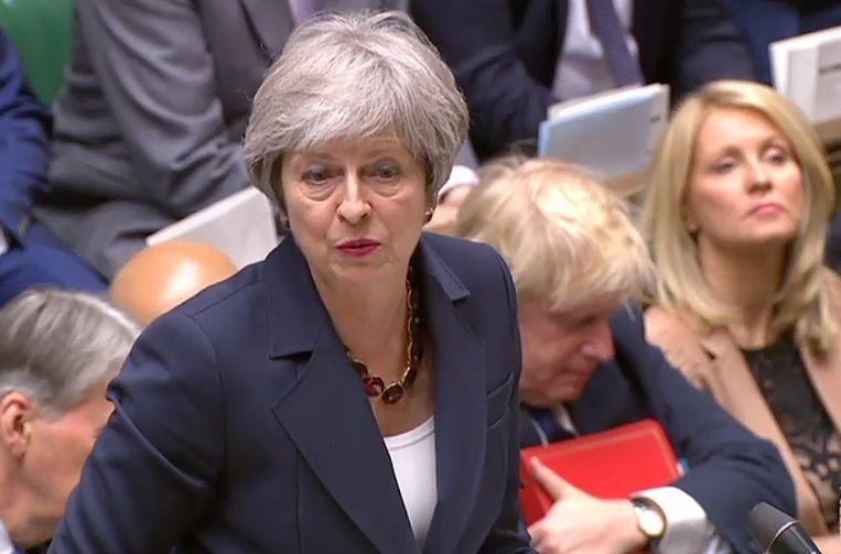 Brits premier Theresa May. Beeld AFP
