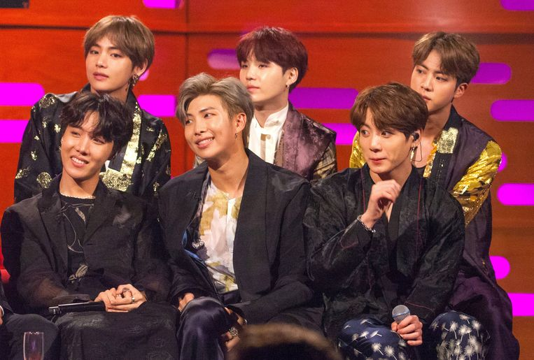 Ook BTS is een razend populaire K-popgroep. Beeld Photo News
