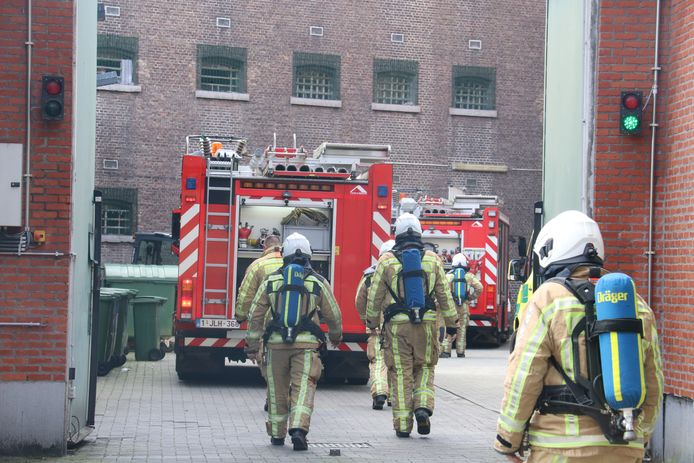De brandweer van Dendermonde was ook ter plaatse.