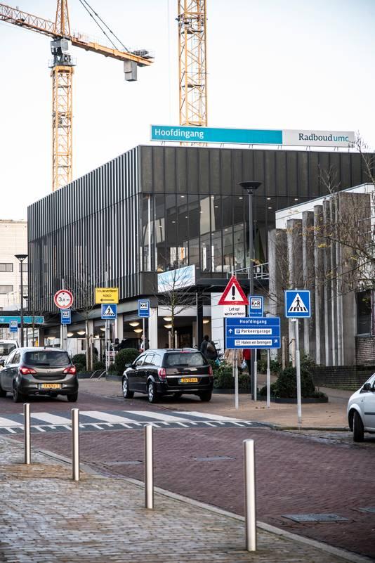 De hoofdingang van het Radboudumc.