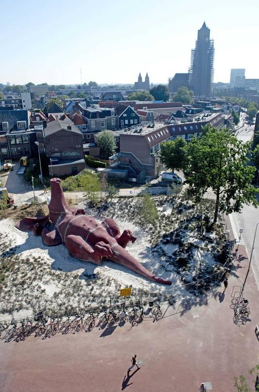 Het Feestaardvarken op archiefbeeld, gezien vanaf Rozet.