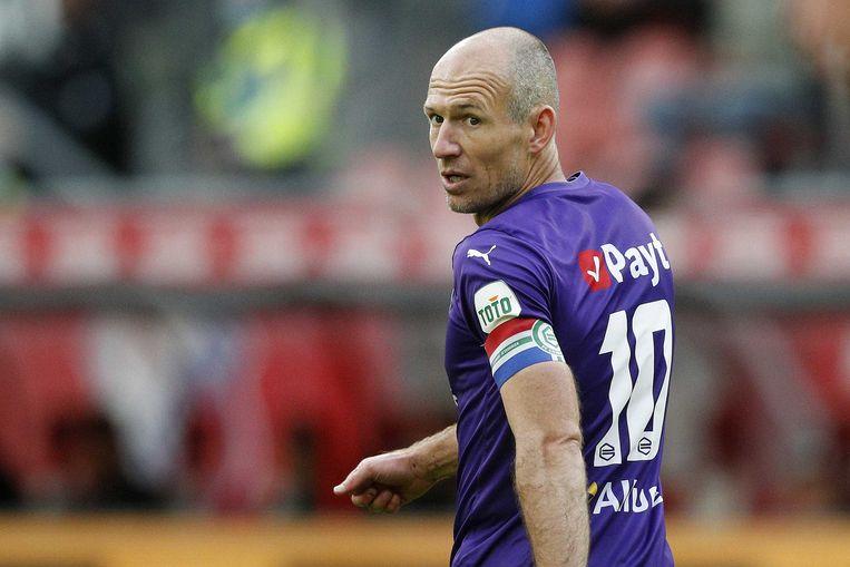 Arjen Robben speelde in zijn laatste profjaar voor Groningen. Beeld ANP