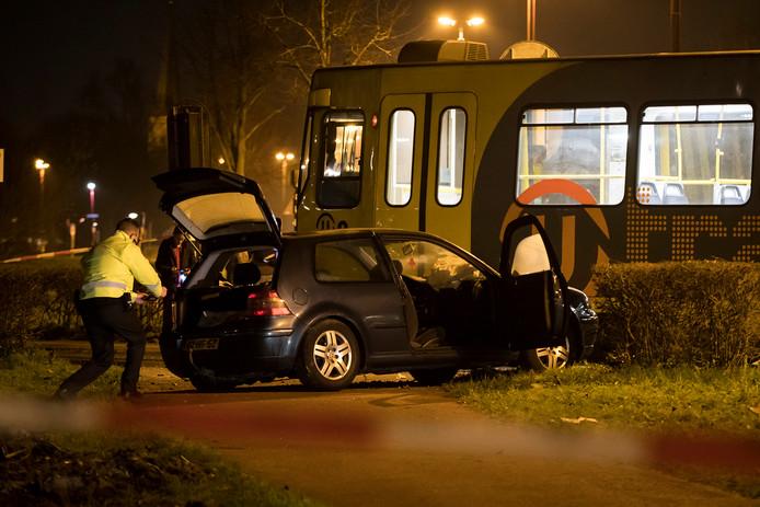 Botsing tussen tram en auto in Nieuwegein
