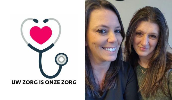 Beste vriendinnen Natacha (links) en Simonne (rechts) nu eindelijk ook collega's in hun eigen zaak Thuisverpleging De Bloesems.