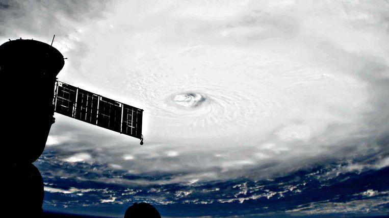 Volgens computervoorspellingen zou orkaan Irma Florida bereiken tegen het weekend. Beeld NASA