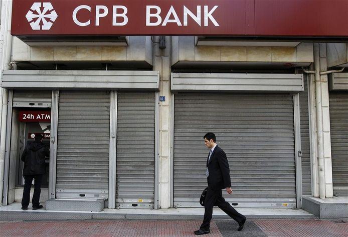 Cyprus Popular Bank in Athene. Foto: EPA