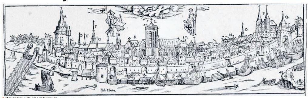 Deventer in de middeleeuwen was opvallend schoon.