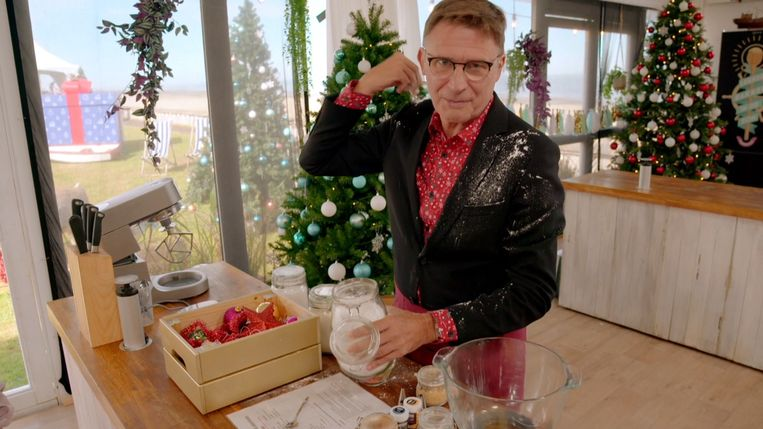 Erik Van Looy in 'Bake Off Kerstspecial' Beeld SBS