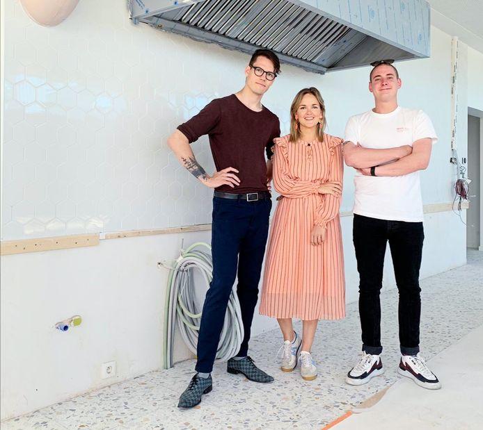 Eliza De Waele van KABINE werkt samen met Sébastien Renier en Egbert Meseure voor de brunchbar op de Oosteroever