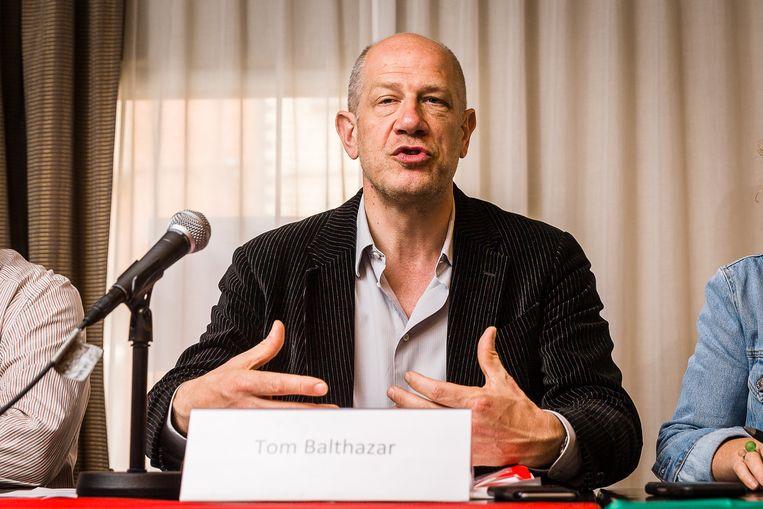 De Gentse kandidaat-burgemeester Tom Balthazar (sp.a) stapte in volle Publifin-storm plots uit PubliPart.  Beeld BELGA