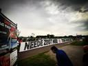 Demonstratie tegen windmolens bij de Melktap in Geesteren door Needenaren