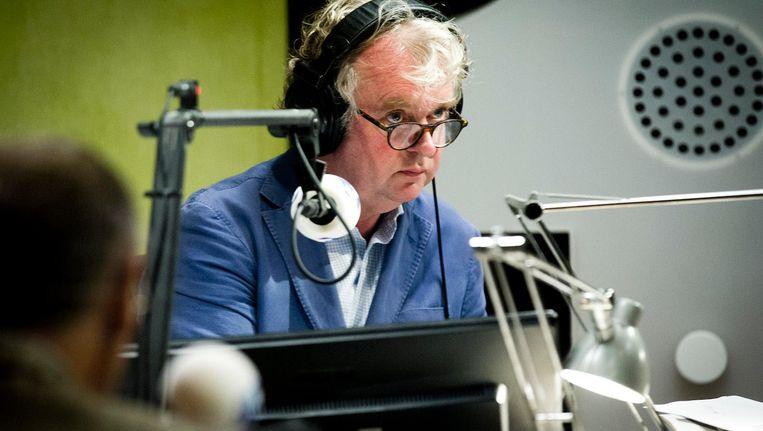 Boonman in 2013 in de studio van Radio 1. Kamerbreed bestond toen 30 jaar. Beeld anp