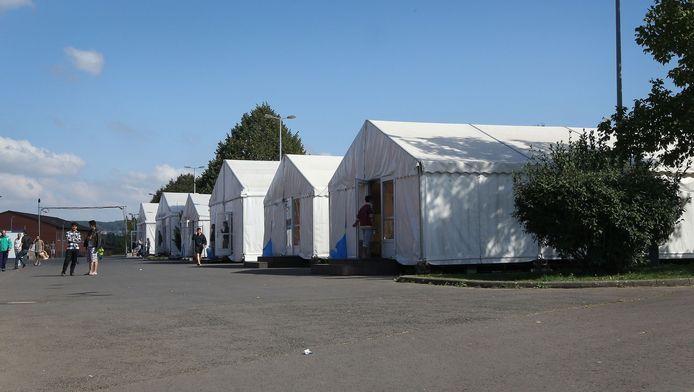 Het asielzoekerscentrum in het Duitse Giessen.