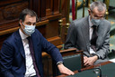 Le Premier ministre Alexander De Croo et le ministre de la Santé Frank Vandenbroucke