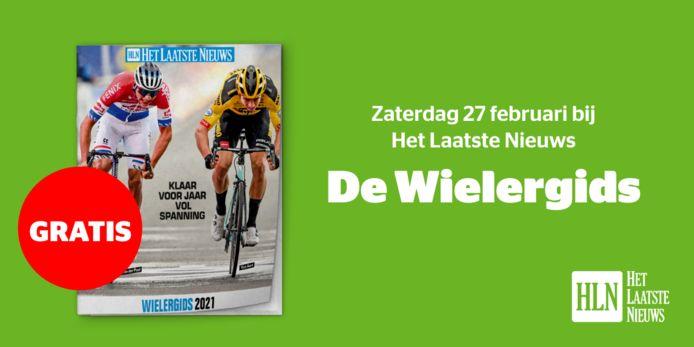 Op 27 februari vindt u de wielergids gratis bij HLN