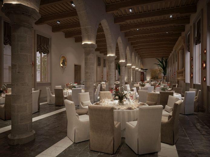 Een van de restaurants van het vijfsterrenhotel Botanic Sanctuary Antwerp.