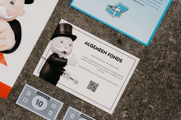 Algemeen Fonds-kaarten van Monopoly.