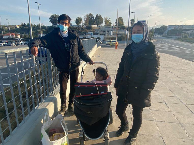 Gholam Sayady (30) en zijn vrouw Samira (22) uit Afghanistan Beeld Thijs Kettenis