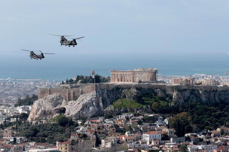 Het Parthenon in Athene, Griekenland.