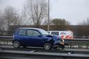 Ongeluk op de A59 bij Waalwijk.