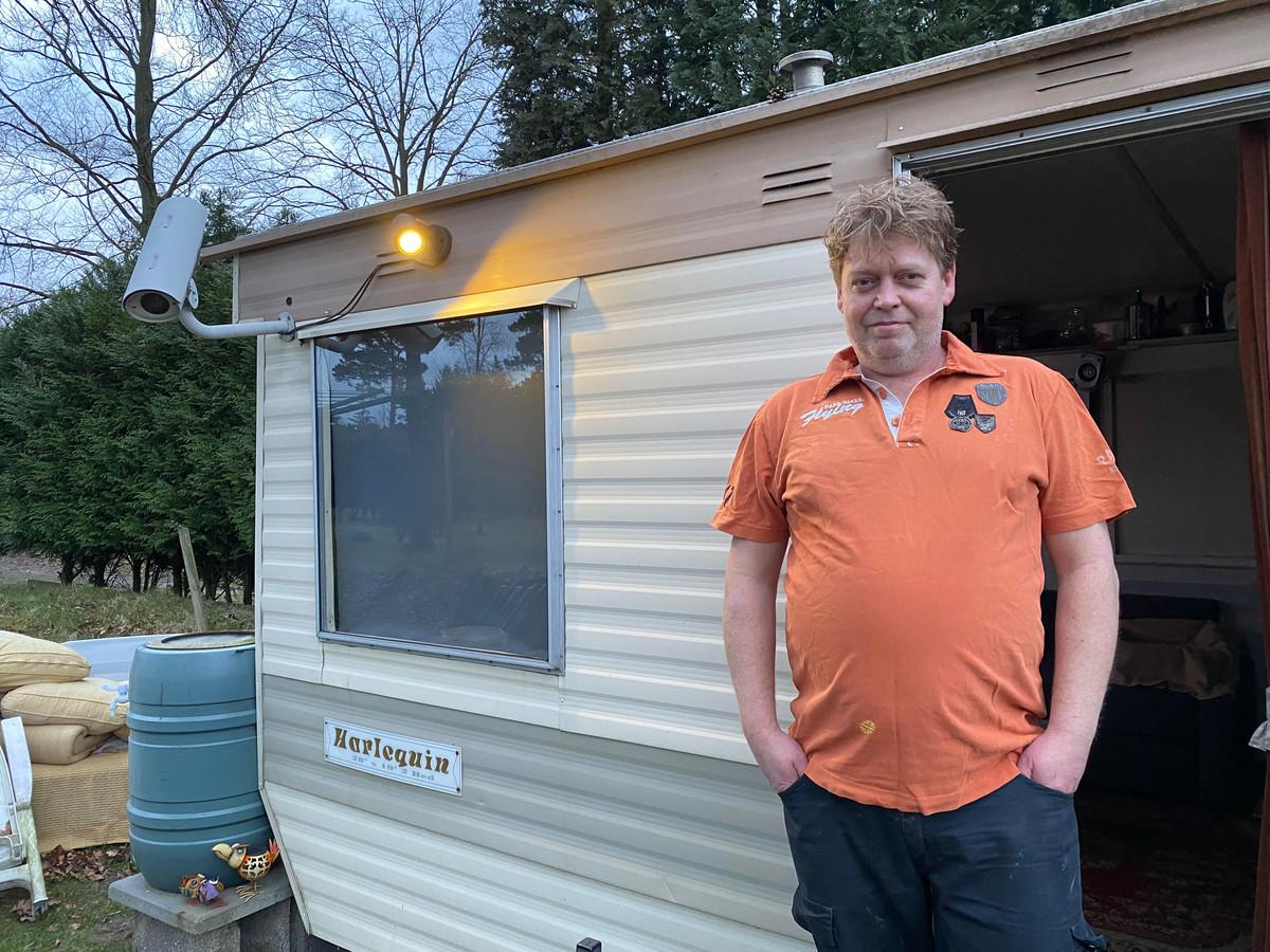 Marco Smetsers op camping de Zwarte Bergen in Luyksgestel.