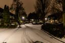 Sporen in de sneeuw in Oosterhout.