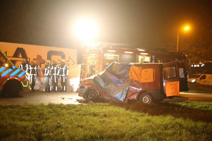 Het ongeval op de N65 ter hoogte van Helvoirt.