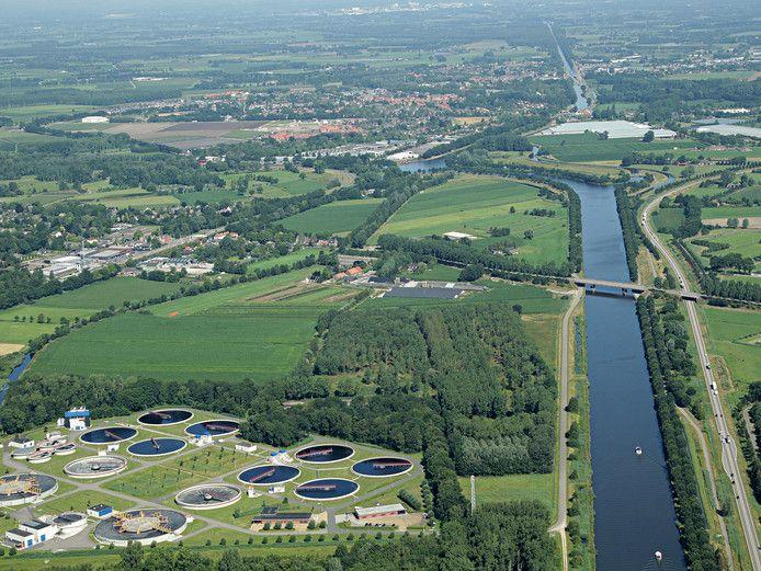 De waterzuivering in Aarle-Rixtel.