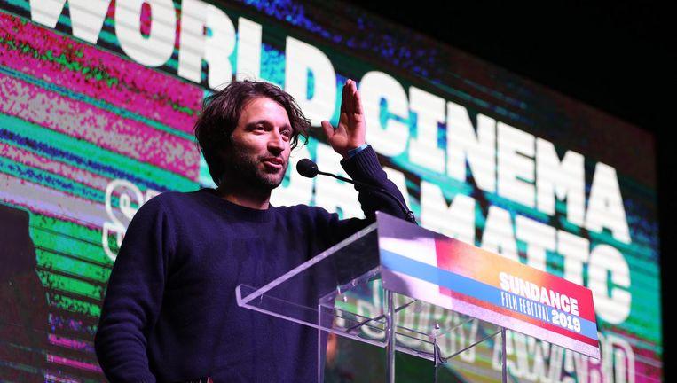 Alejandro Landes nam de prijs op het podium in ontvangst Beeld EPA