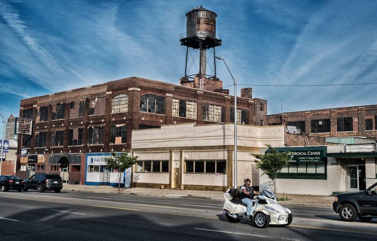 Het post-industriële en vervallen Detroit is nog overal zichtbaar maar sommige wijken kregen wel een opknapbeurt. Beeld Tim Dirven