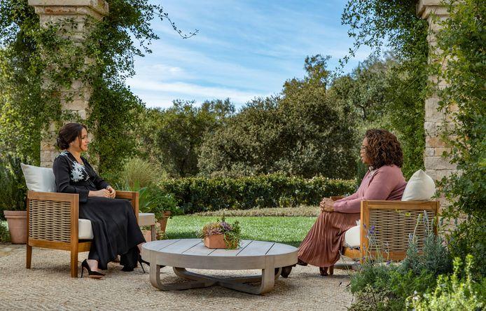 MeghanMarkle chez Oprah Winfrey.