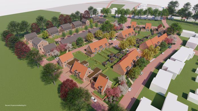 De 58 woningen in de tweede fase van het woningbouwplan Duizel-Noord worden gebouwd door Reuvers Ontwikkeling & Bouw uit Oss.
