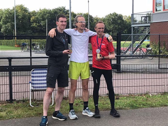 Een compleet Brabants 'podium' met winnaar Mark Wagenaars. (rechts)