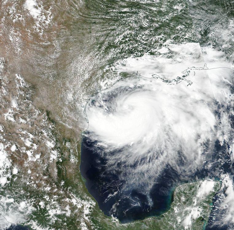 Satellietbeeld van de naderende orkaan. Beeld Hollandse Hoogte/EPA