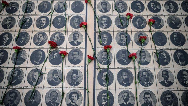 Monument voor slachtoffers van de Armeense massamoord in 1915. Beeld afp