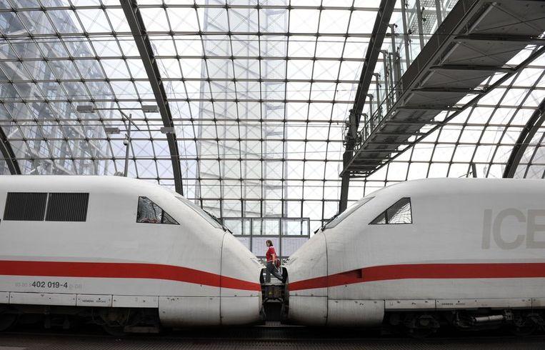 Een ICE-trein in Berlijn. Beeld afp