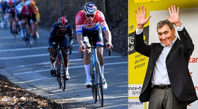 Eddy Merckx kan het aanvalsgeweld van Mathieu van der Poel best wel pruimen.
