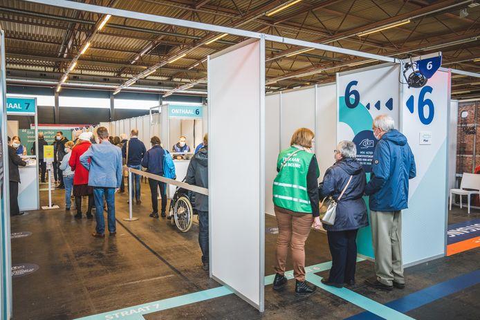 Vaccinatiecentrum op Flanders Expo in Gent, beeld ter illustratie.