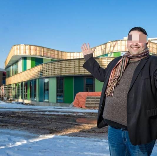Khalid T. bij de bouw van An Noer, eerder dit jaar.